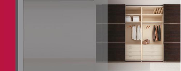 Wardrobe Wood Glass Door Sliding